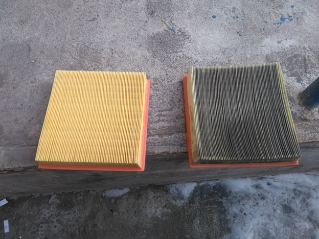 Старый и новый фильтрующие элементы ВАЗ 2114