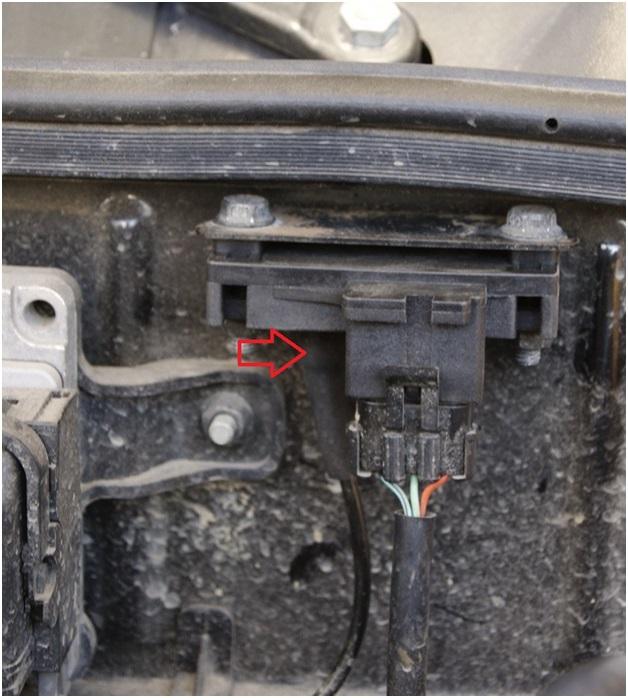 Расположение вакуумного шланга