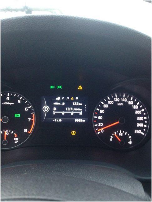 Индикатор низкого давления в шинах