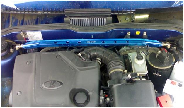 Расположение салонного фильтра в моторном отсеке ВАЗ 2109