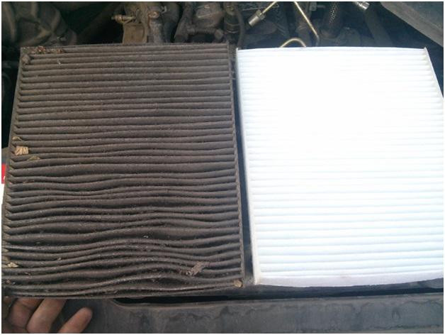 Загрязненный фильтр и новый расходник