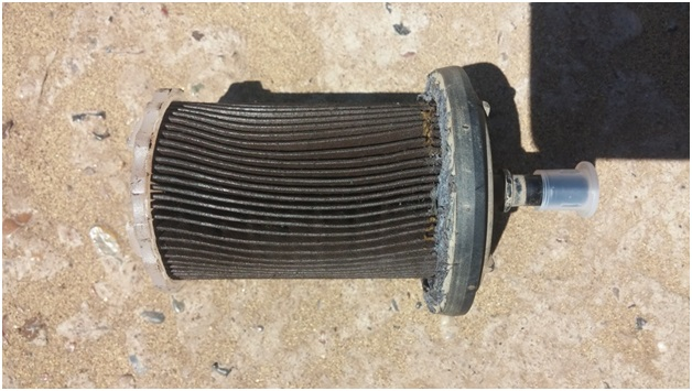 Загрязненный топливный фильтр