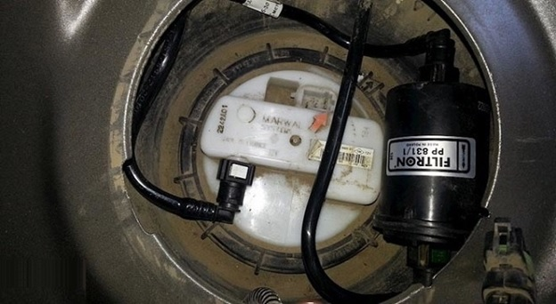 Фильтр тонкой очистки под лючком
