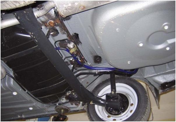 Расположение топливного фильтра на ВАЗ 2114 инжектор