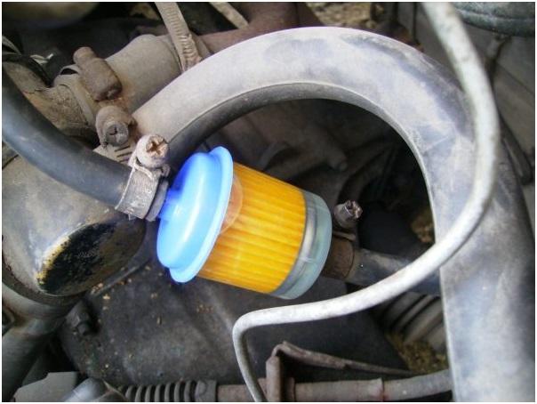 Фильтр на карбюраторном ВАЗ 2107