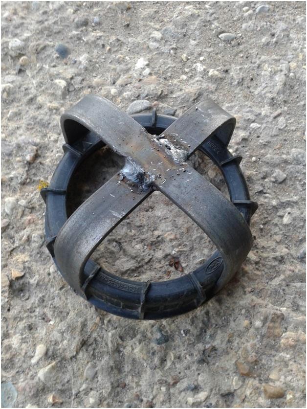 Снятое кольцо со самодельным съемником