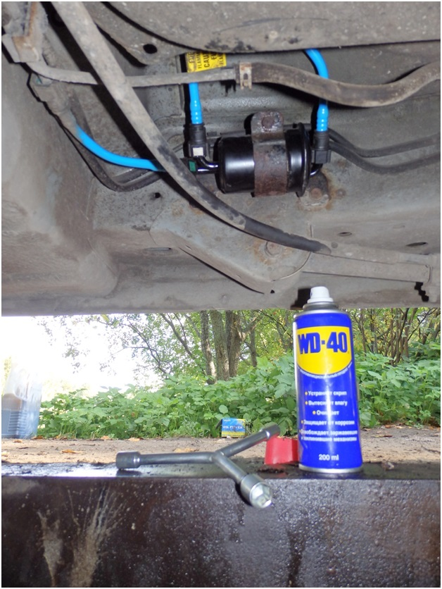 Расположение топливного фильтра тонкой очистки