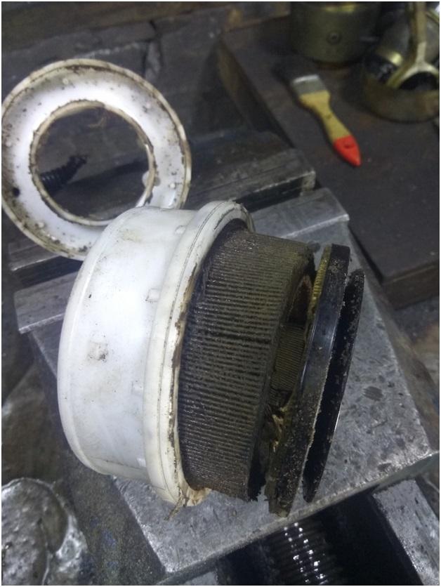 Забитый фильтр тонкой очистки
