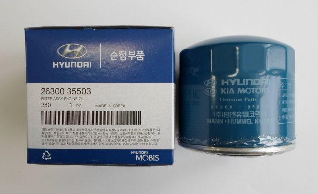 Выбор масляного фильтра Hyundai Accent