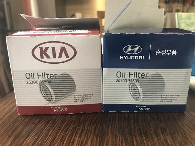 Оригинальные масляные фильтры под брендами Hyundai и Kia