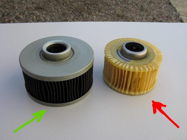 Сравнение начинки оригинального масляного фильтра и его подделки