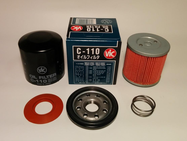 Масляный фильтр Vic C 110 в разборе