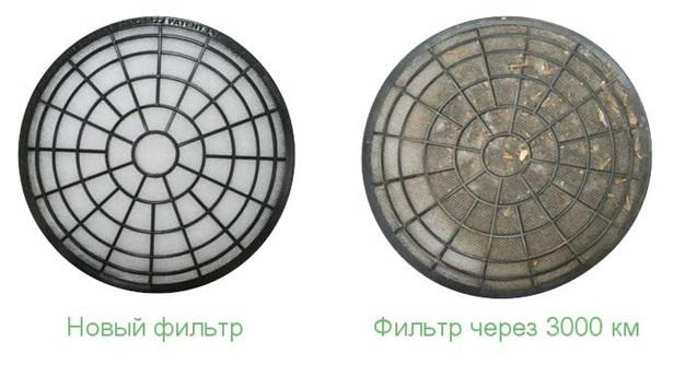 Старый и новый фильтры