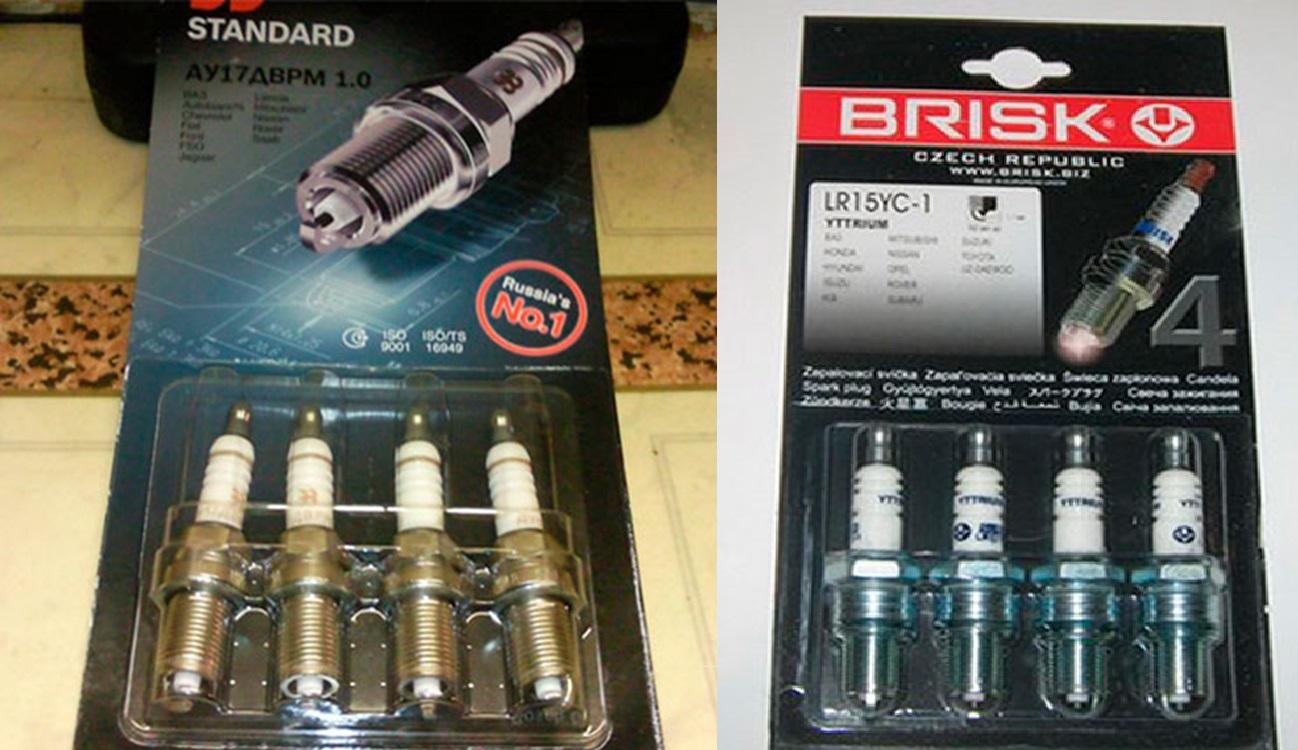 Фирменные свечи АУ17ДВРМ и Brisk Super DR15YC-1