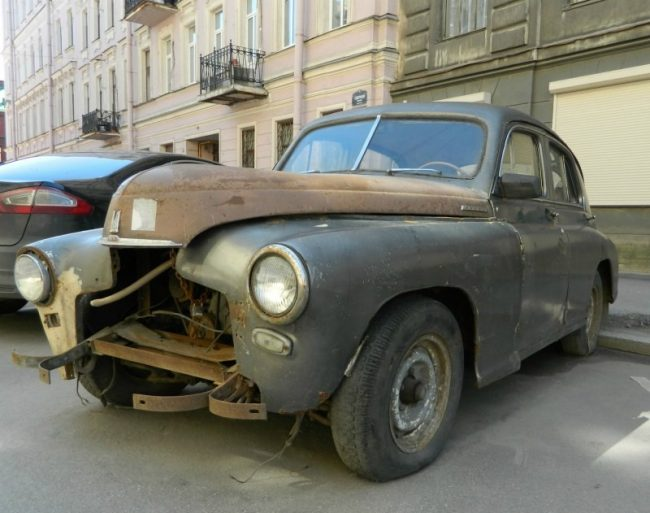 Состояние ГАЗ М20 до тюнинга