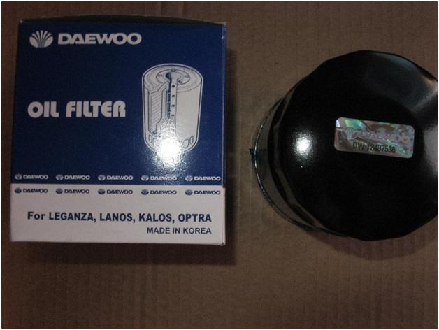 Внешний осмотр упаковки и масляного фильтра