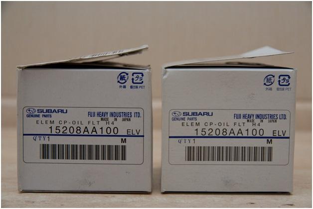 Подделка (слева) и оригинал (справа)