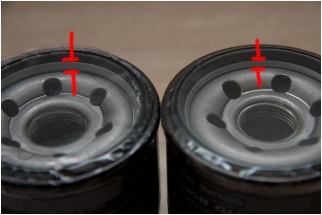 Сравнение размера каймы у резинового уплотнителя