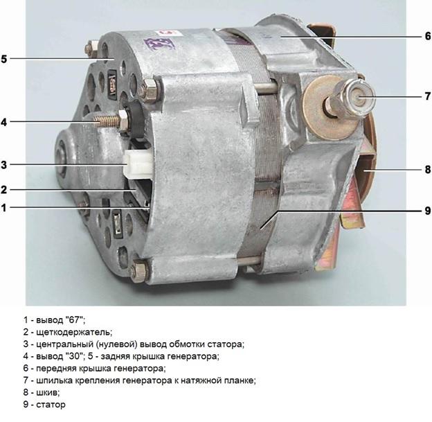 Внешний вид генератора ВАЗ 2101