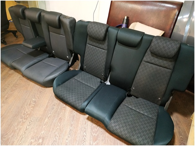 Старый задний ряд и новые кресла с подлокотником