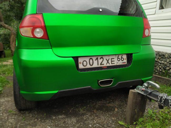 Тюнингованная задняя часть автомобиля Хендай Гетц