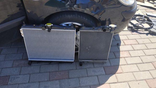 Стандартный и увеличенный радиаторы